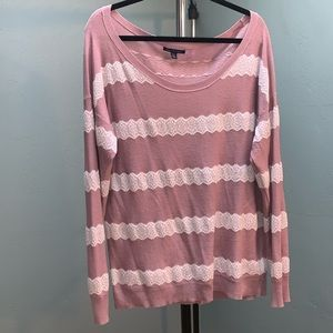 🍁America Eagle Outfitters Lace Sweater Size XL